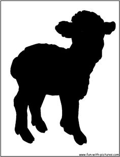 SHEEP AND LAMB SILHOUETTE STENCIL.