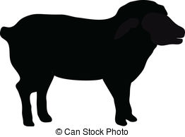 EPS Vectors of Lamb silhouette isolated on white csp14424897.