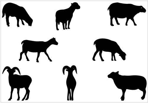 Sheep silhouette vector clip art packSilhouette Clip Art.
