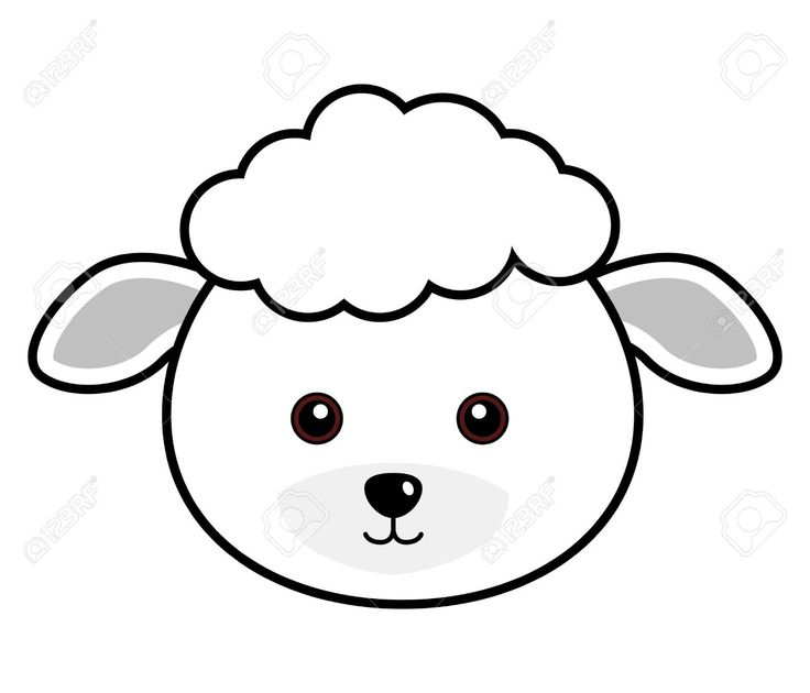 Sheep Black And White Clipart.