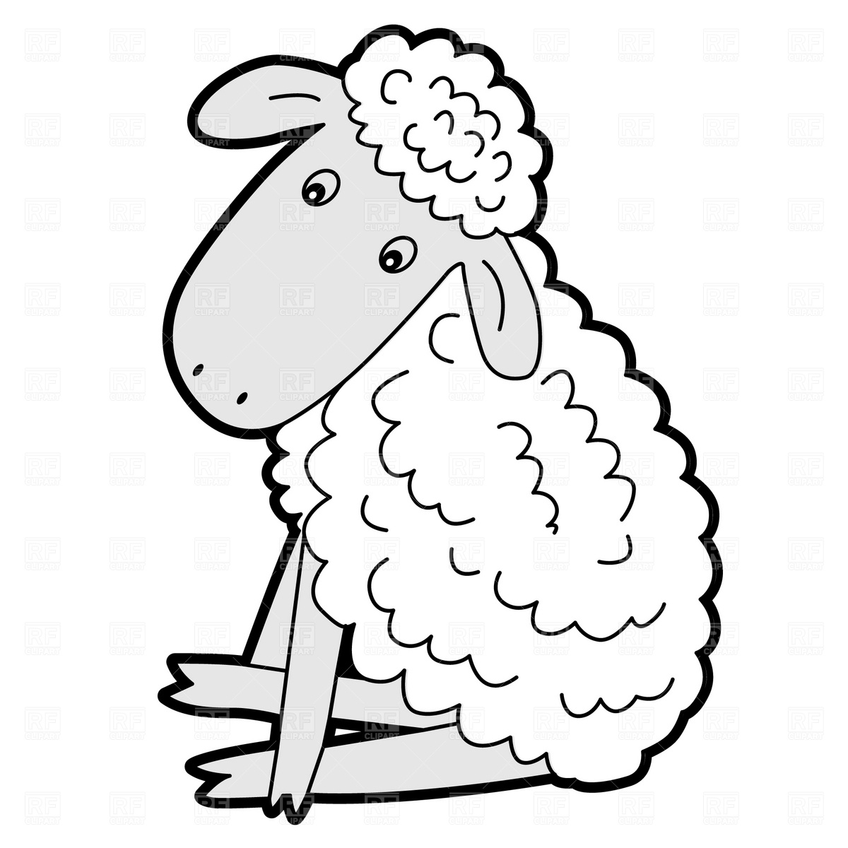 Free Sitting Lamb Cliparts, Download Free Clip Art, Free.