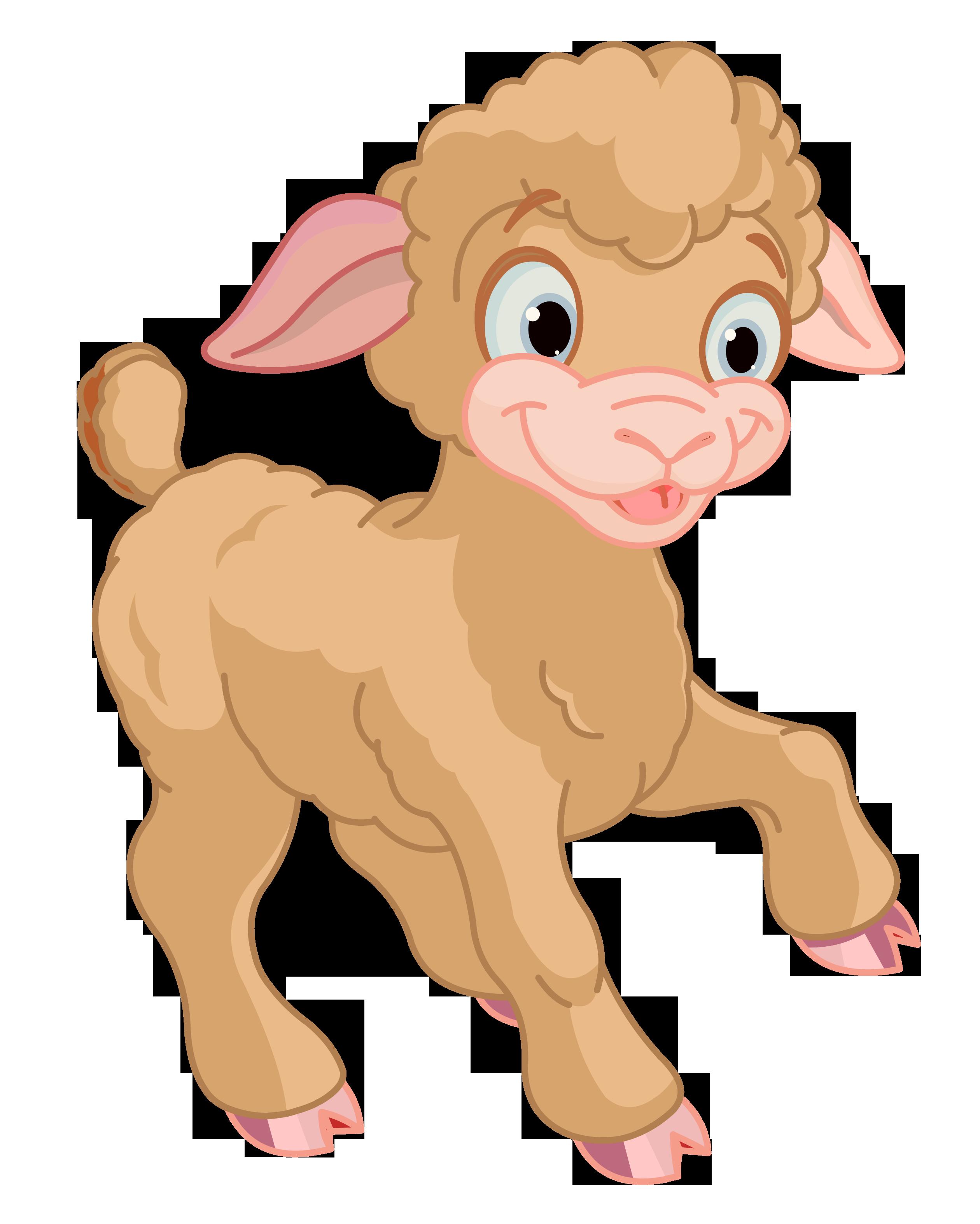Cute Little Lamb PNG Clipart.