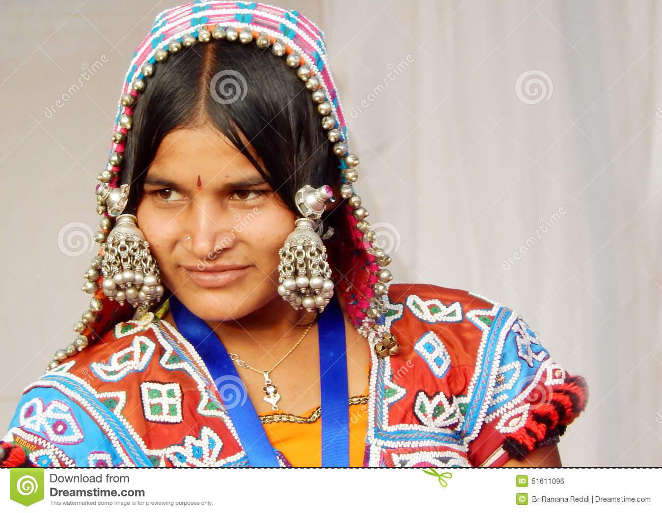 Portrait Of A Indian Banjara Woman. Editorial Photography.