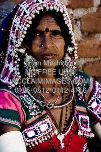 Stock Photo: Lambadi Tribal Lady Of Southern India.