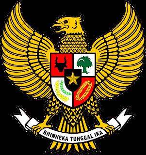 Lambang Negara Indonesia (Bhinneka Tunggal Ika).