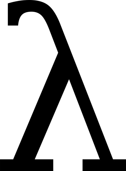 Greek Letter Lambda clip art Free vector in Open office drawing.