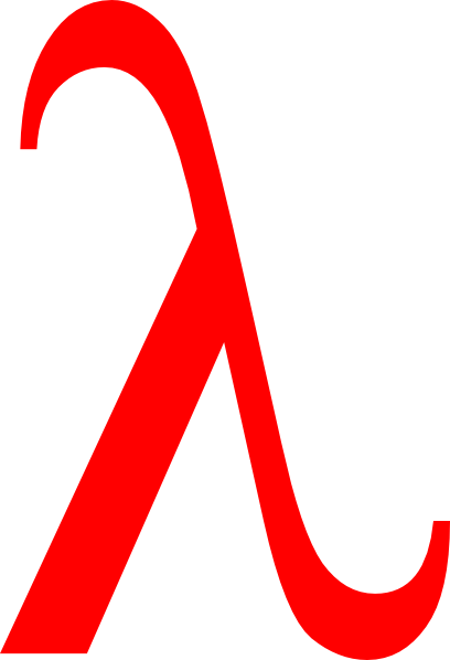 Red Lambda Clip Art at Clker.com.
