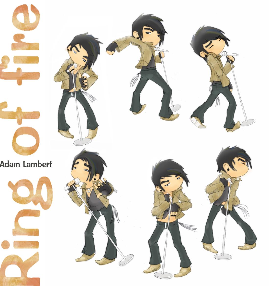 Adam Lambert Cartoon.