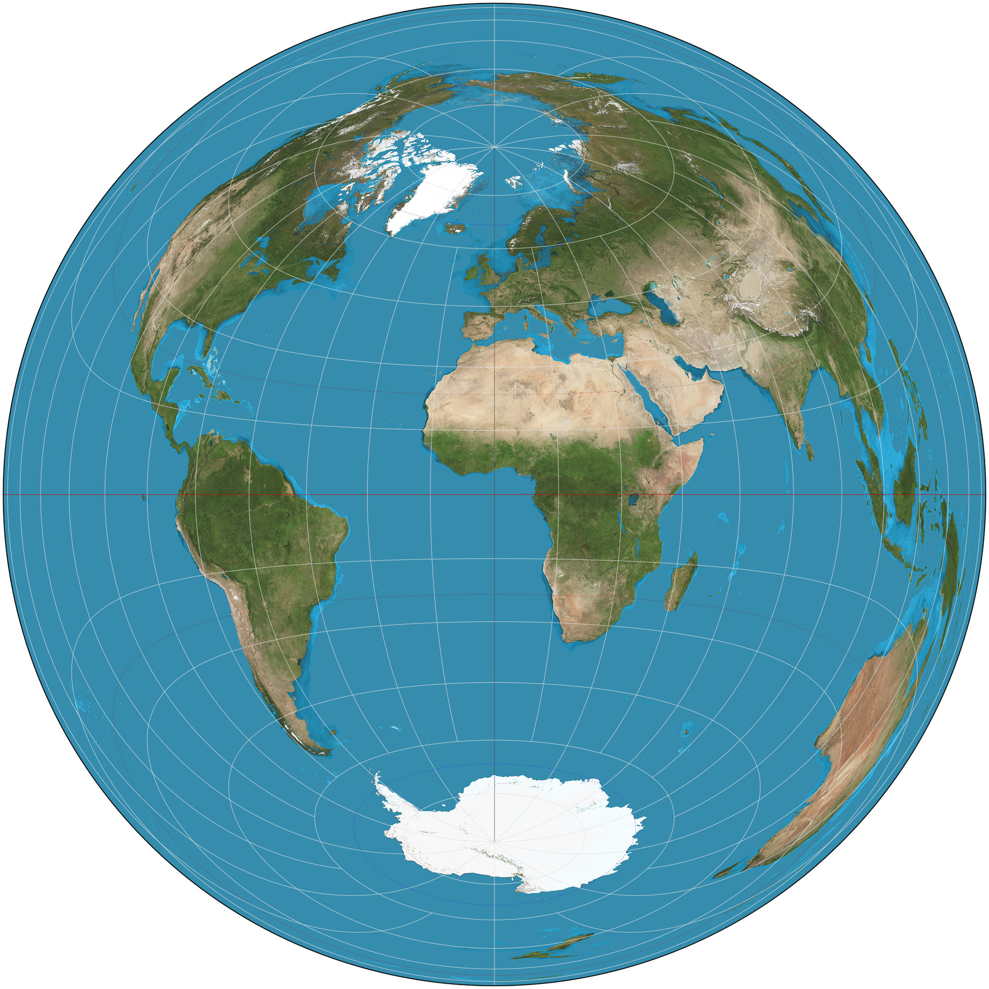Lambert Azimuthal Equal Area Projection Clipart.