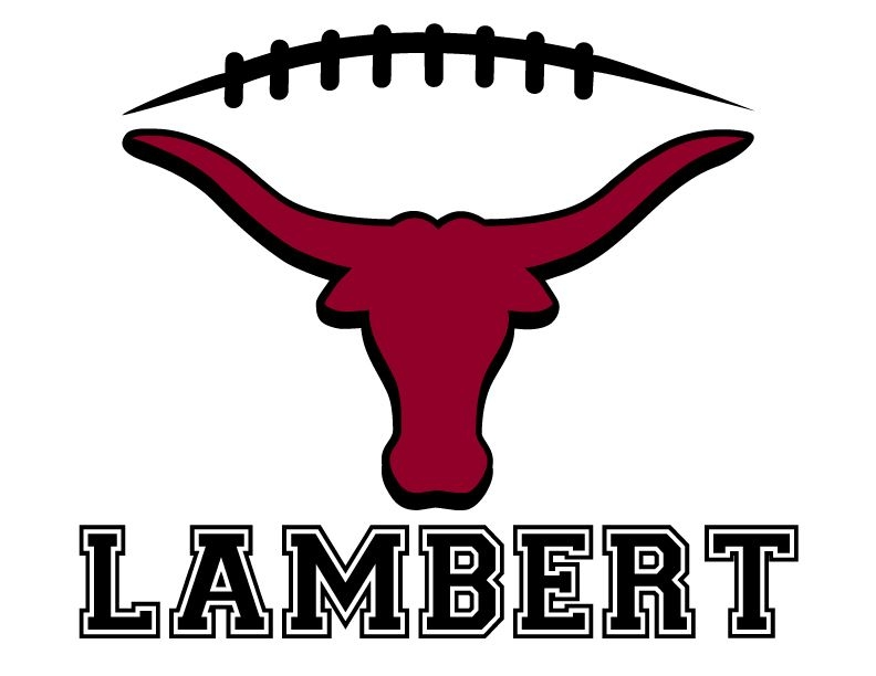 Club Lambert Football Laces Clipart.