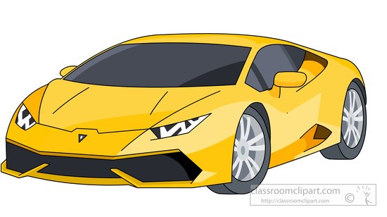 Lamborghini Sports Car Clipart.