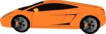 Lamborghini clip art Free Vector.
