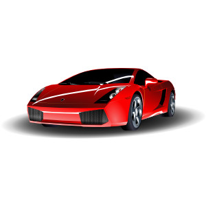 Red Lamborghini clip art.