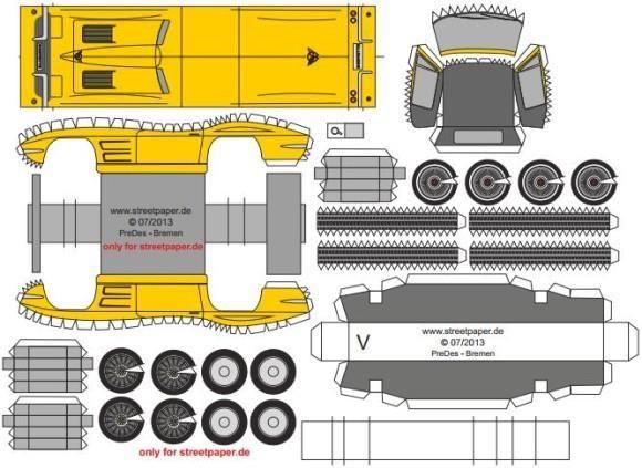 Classic Corvette Sting Ray 1965 Paper Model.