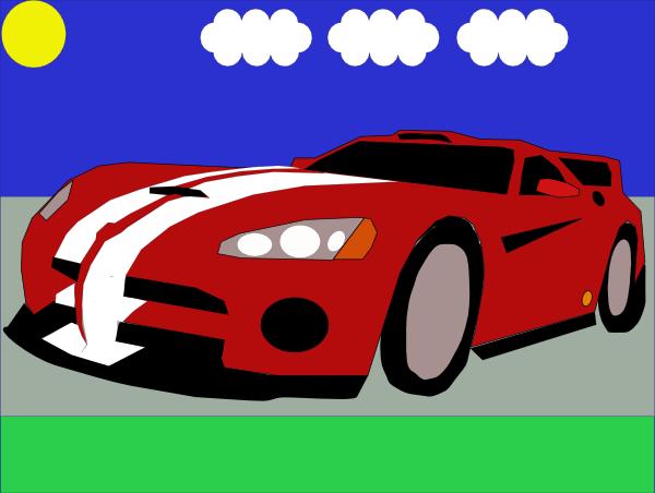 Lamborghini miura clipart.