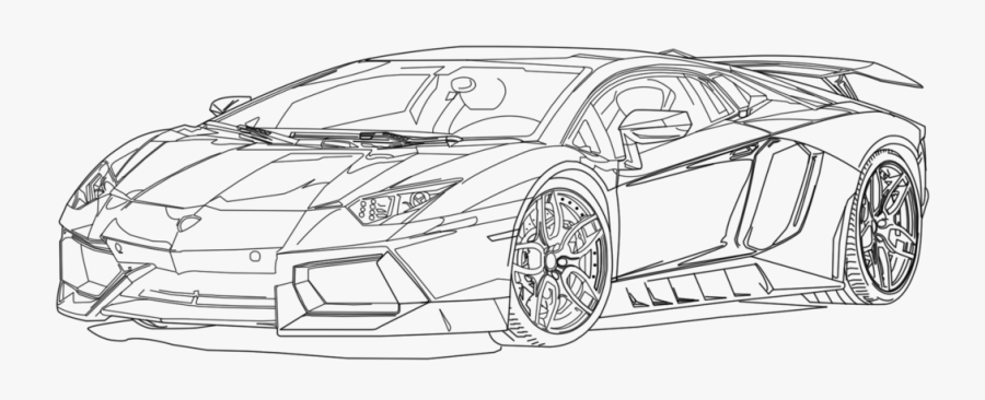 Lamborghini Aventador Clipart Sports Car.