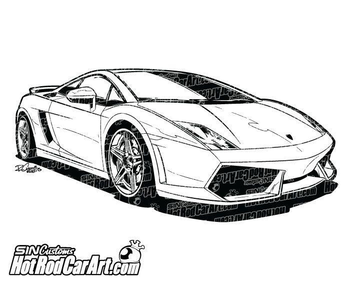 Lamborghini Gallardo Sports Car.