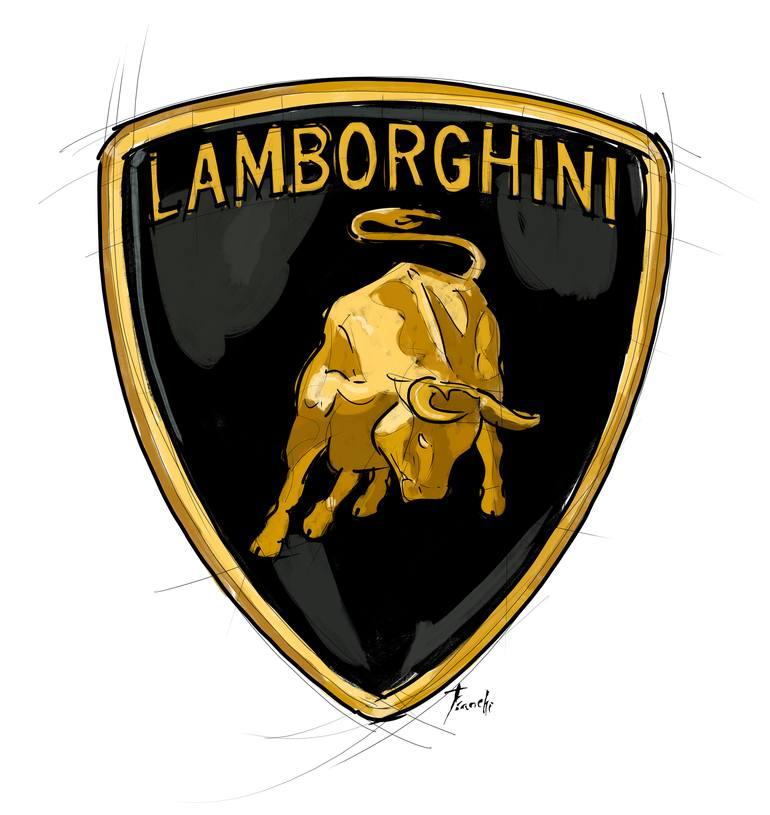 Lamborghini logo emblem.