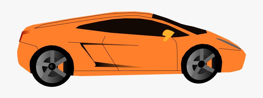 Clipart Car Orange.