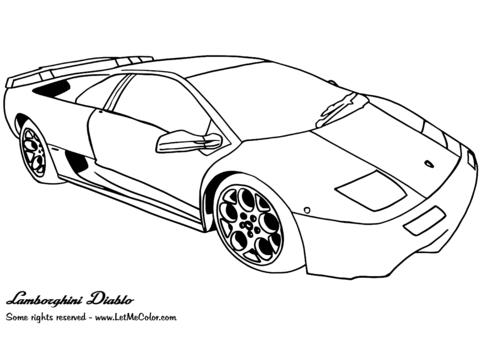 Lamborghini Diablo coloring page.