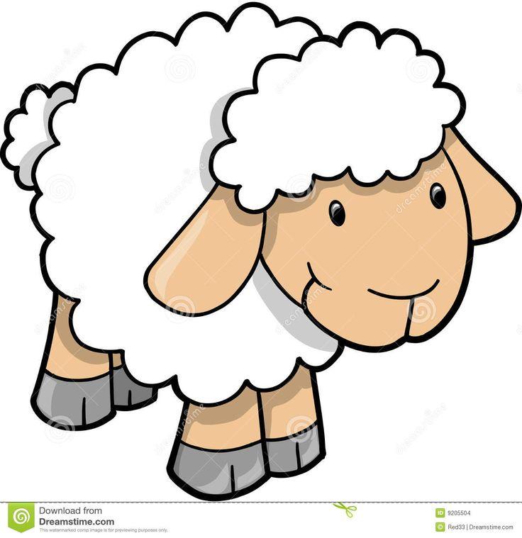 Cute Lambs Clipart.
