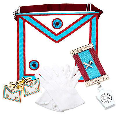 Lambskin Masonic MARK Master Masons Apron MM PACK (Jewel, Gloves.