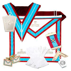 Lambskin Masonic MARK VALUE Past Master Apron WM PACK (Full Masons.