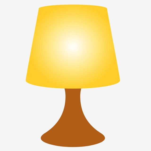 Cartoon Table Lamp Png Download, Lighting, Small Table Lamp.