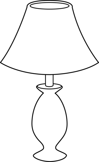 Lamp Clipart Black And White.