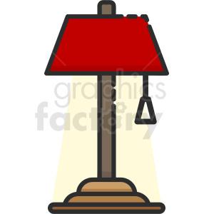 desk lamp icon . Royalty.