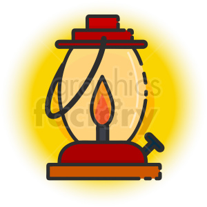 oil lamp icon . Royalty.
