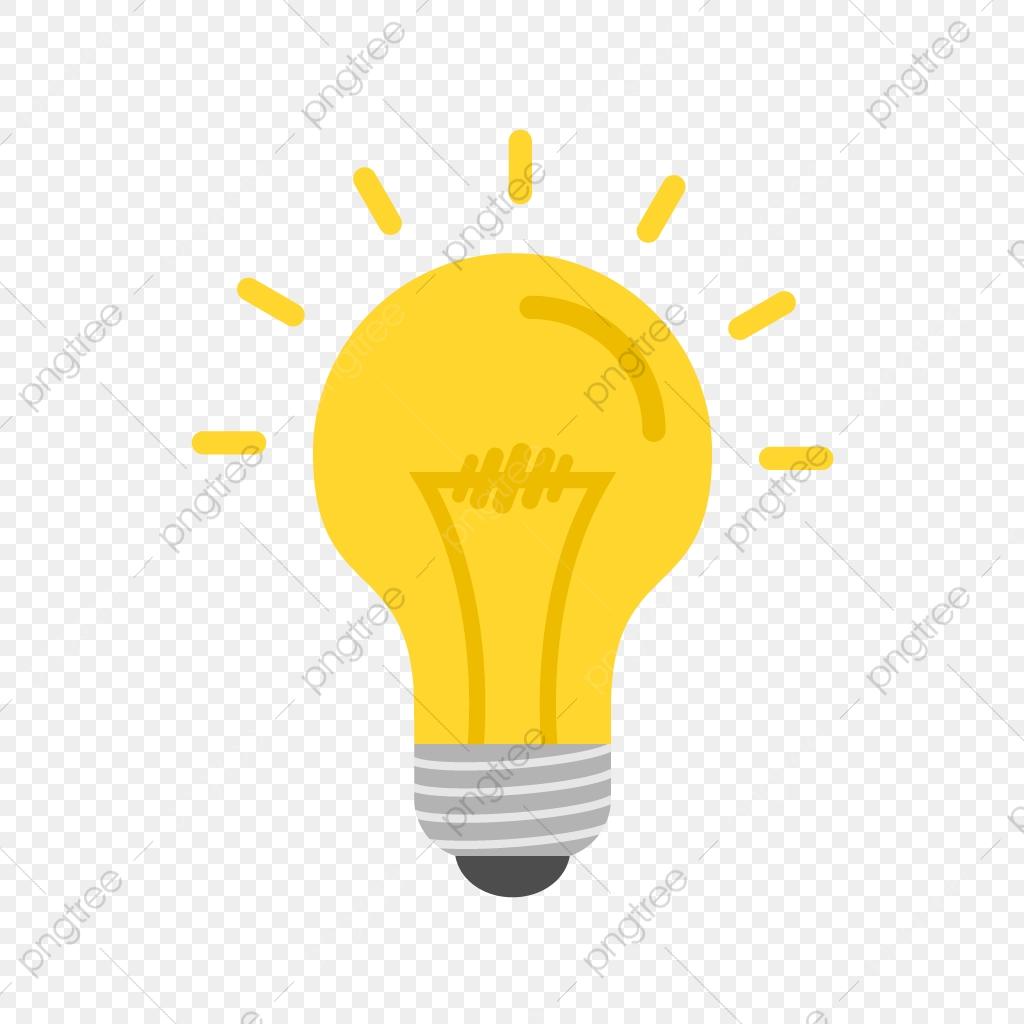 Light Bulb Flat Multi Color Icon, Light Bulb, Bulb, Light.
