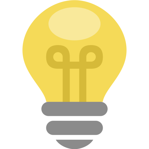 Bulb, electric, energy, idea, lamp, light, thought icon.