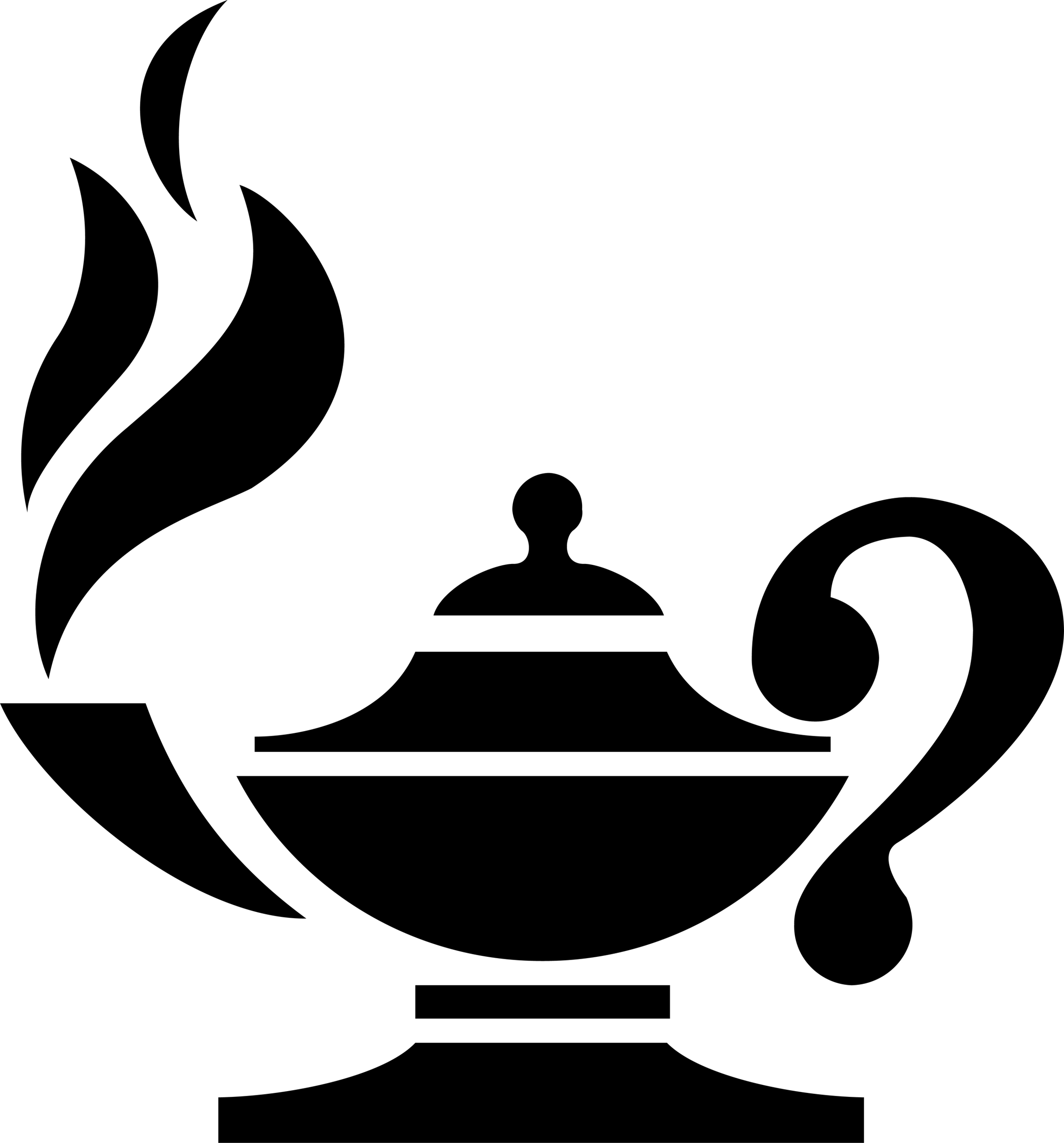 Knowledge lamp clipart.