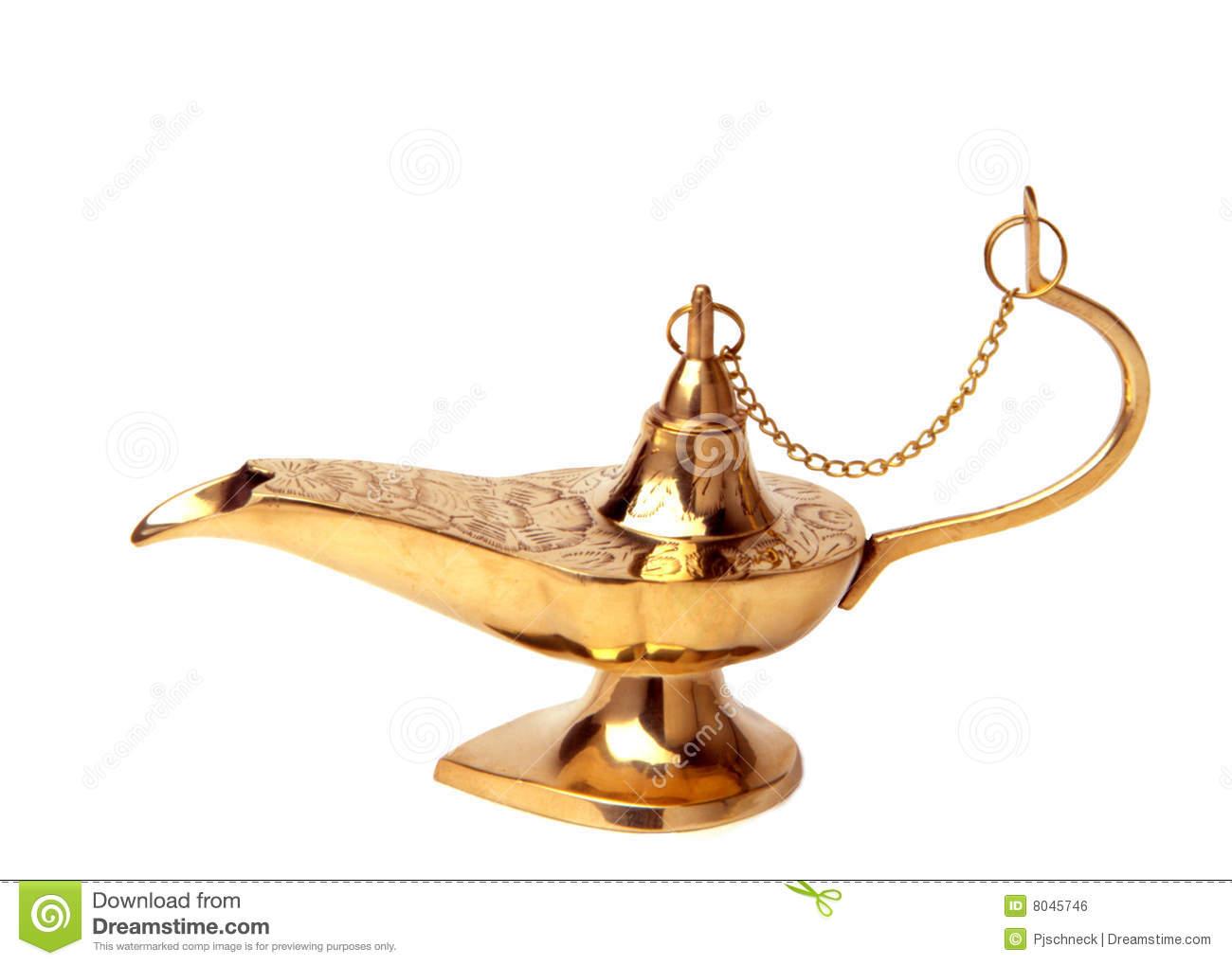 Lamp of Knowledge stock photo. Image of genie, wish.