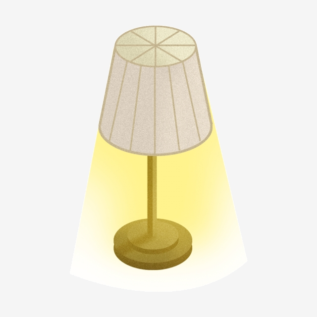 Hand Painted Cartoon Table Lamp Png Material, Decorative.