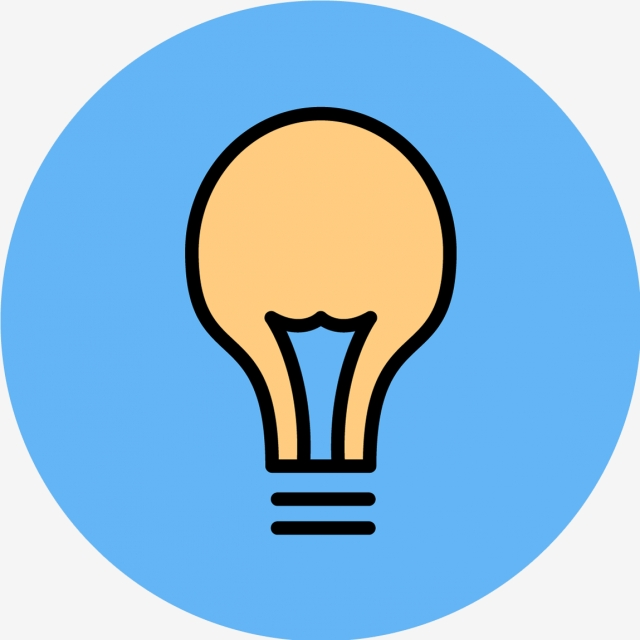 Vector Bulb Icon, Bulb, Idea, Lamp PNG and Vector with.