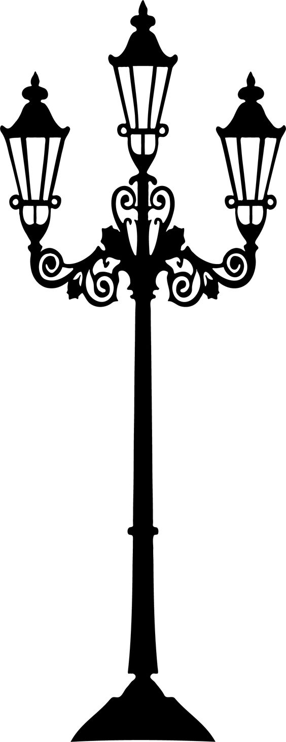 Lamp post silhouette clipart.