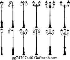 Lamppost Clip Art.
