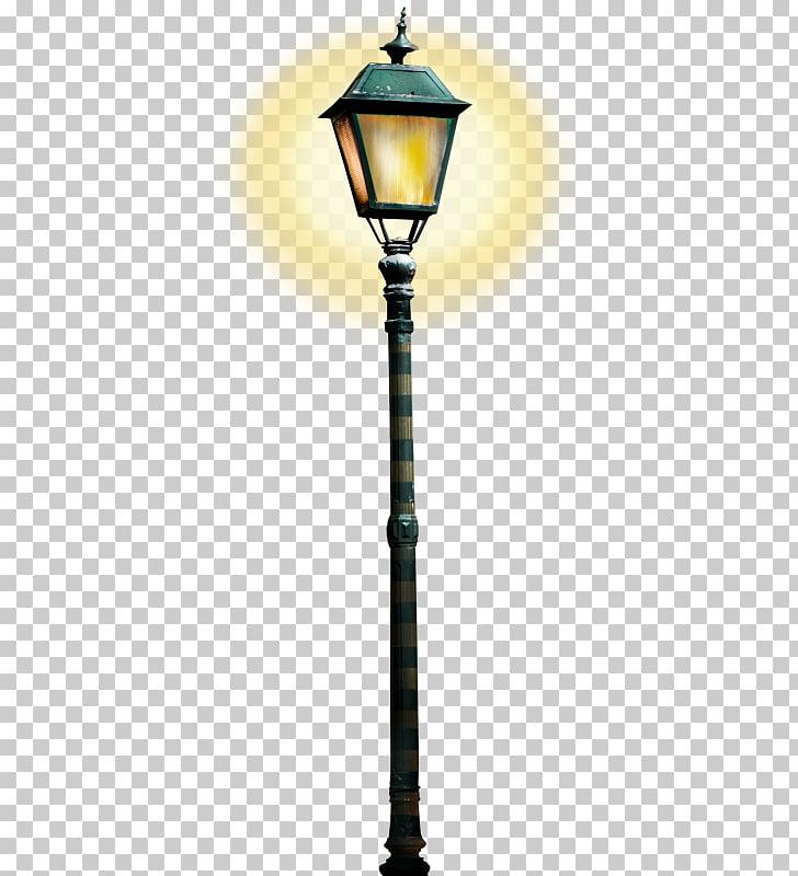 Street light , Dim street light, black light post PNG.