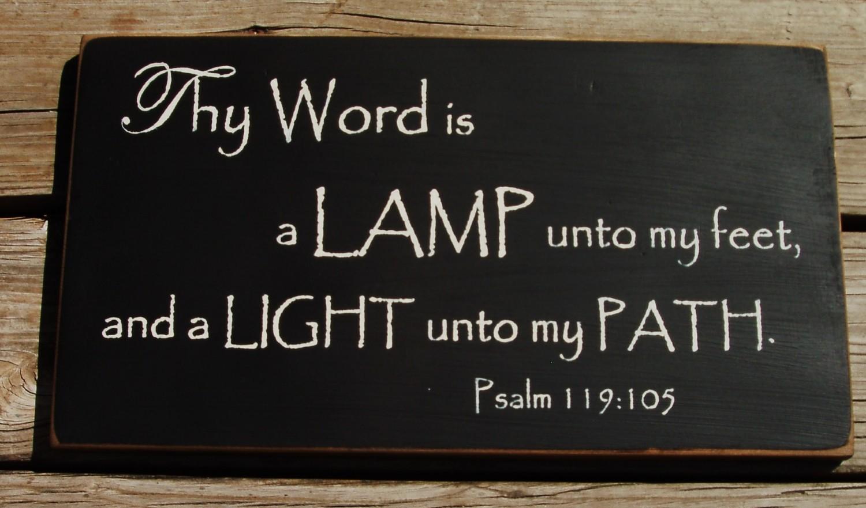 Lamp unto my feet clipart.