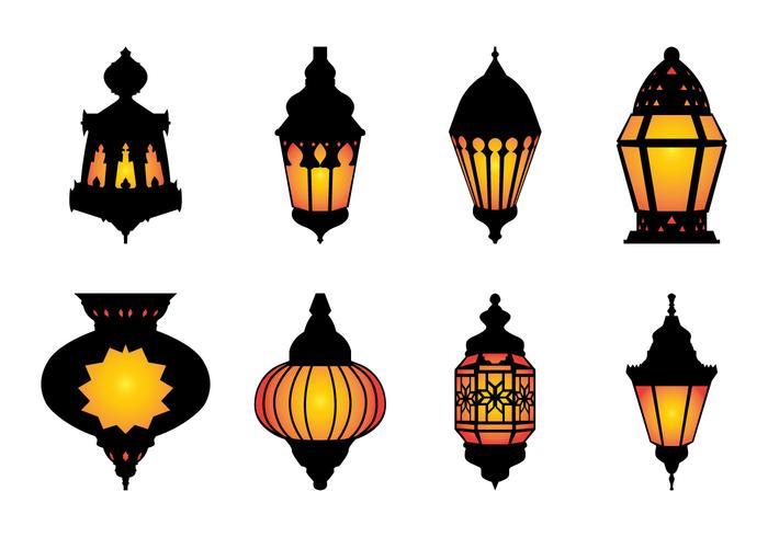 Free Arabic Hanging Lamp Vector.