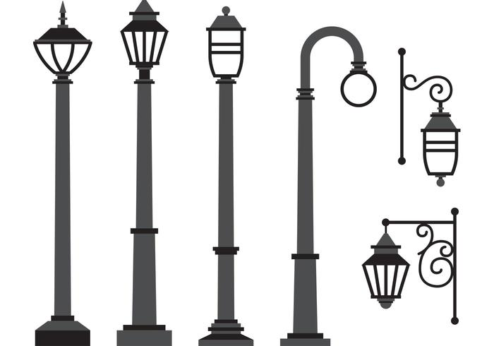 Gas Lamp Vectors.