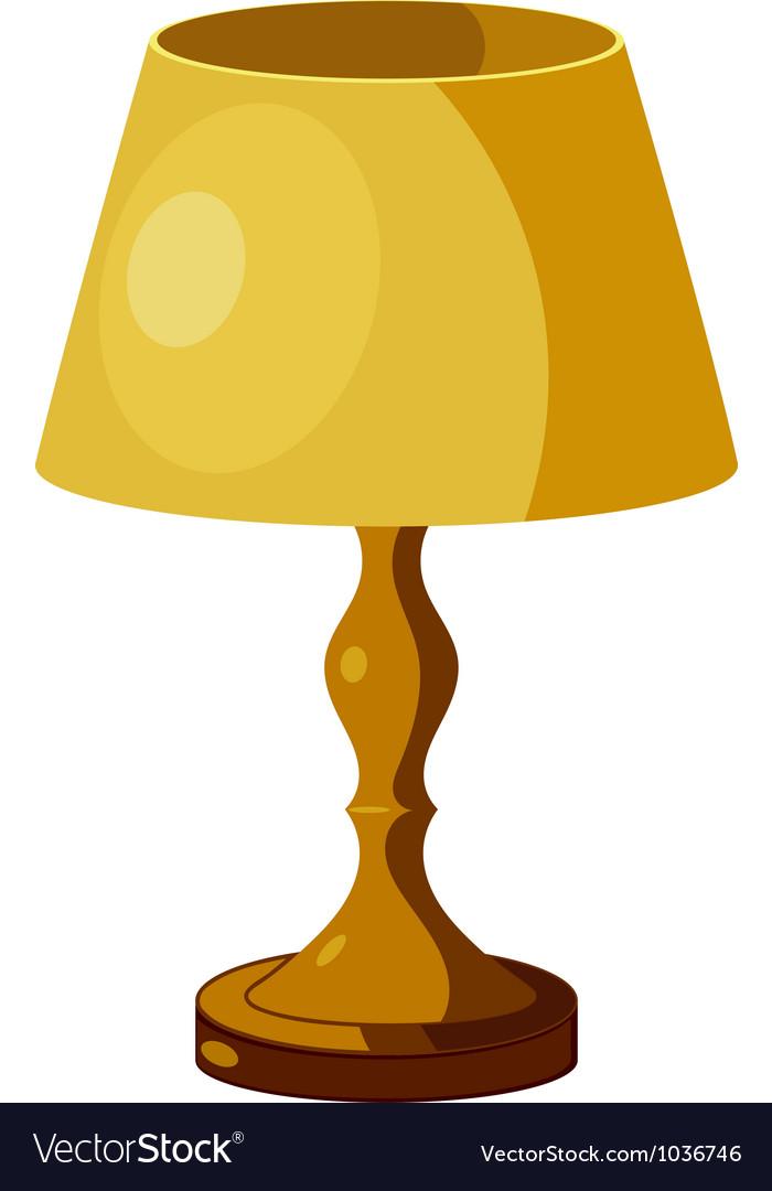 Yellow lamp.