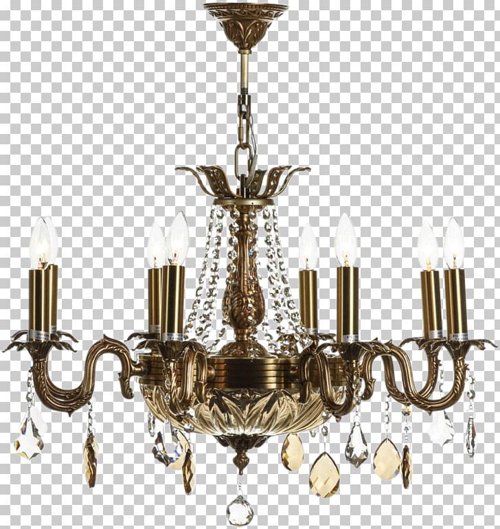 Lámpara de techo, lámpara de techo, latón, patrón de lámpara.