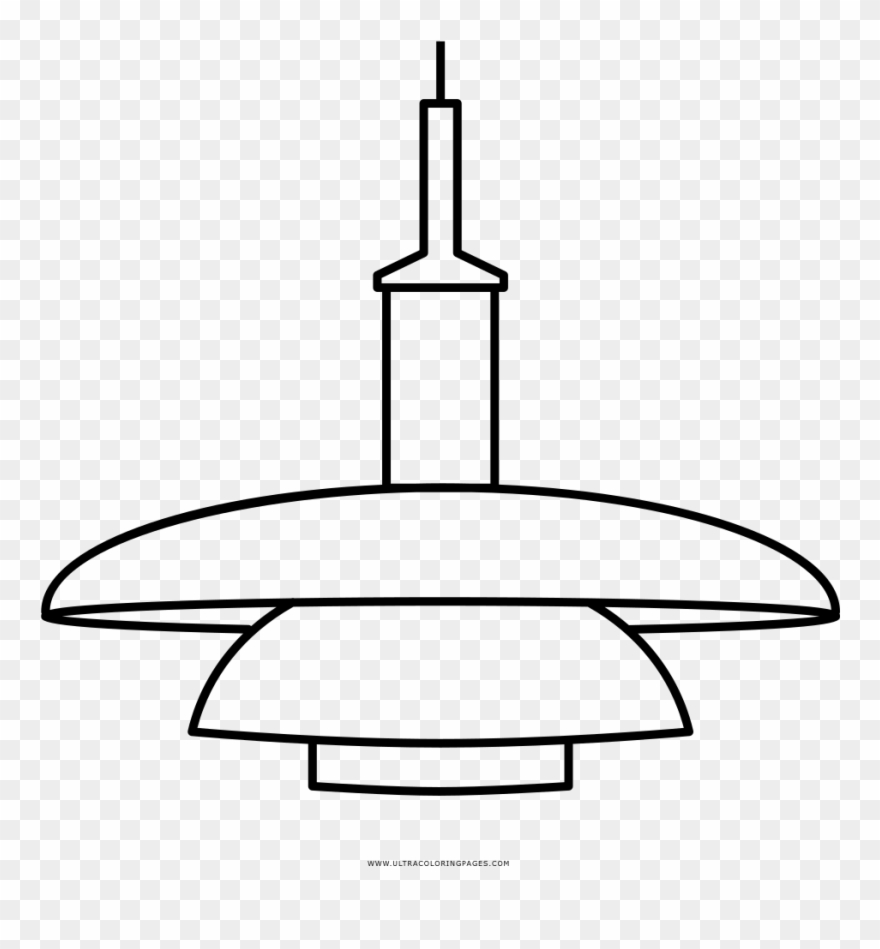 Hanging Lamp Coloring Page.