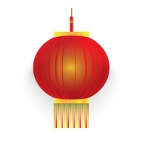 Lampion Vector Image.
