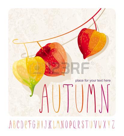 Herbst Komposition Mit Lampionblumen (ein Anderer Name.