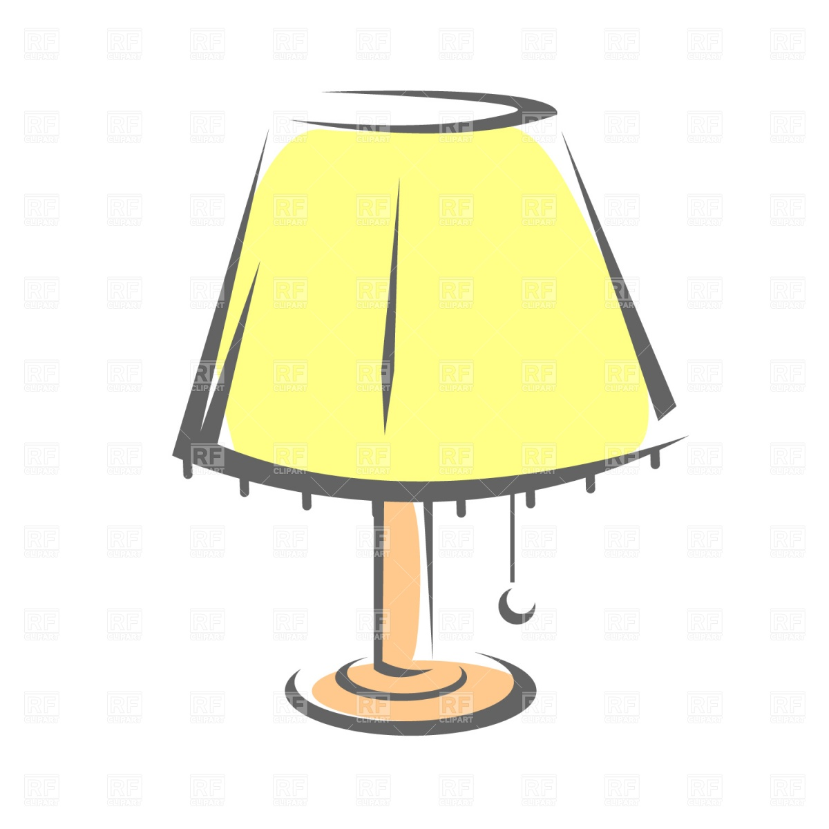 Royalty Free Desk Lamp Clip Art Vector Images: Light Shades Clipart