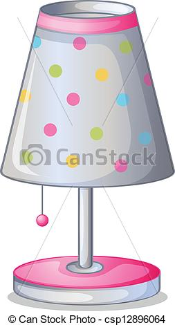 Clip Art Vector of A lampshade.